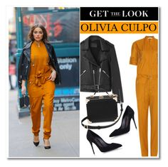 """""""Celeb Style: Olivia Culpo"""" by zhris ❤ liked on Polyvore featuring Victoria Beckham, Dolce&Gabbana, AllSaints and Aspinal of London"""