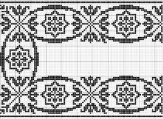 Dažādi raksti rūtiņu tehnikā - Rokdarbu grāmatas un dažādas shēmas Cross Stitch Borders, Cross Stitching, Cross Stitch Embroidery, Cross Stitch Patterns, Filet Crochet Charts, Knitting Charts, Knitting Patterns, Hand Embroidery Designs, Embroidery Patterns