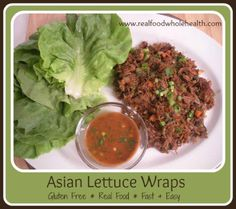 Amazingly easy Asian Lettuce Wraps (with a fantastic dipping sauce!) are gluten-free, Paleo & GAPS-friendly- and definitely better than restaurant versions!