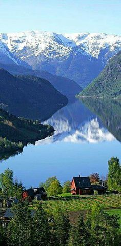 Ulvik,Hordaland county, Norway. The municipality stretches from the Hardangerfjord to the mountains that reach 1800 metres above the sea level. yoga scenery - http://amzn.to/2iaVqk0