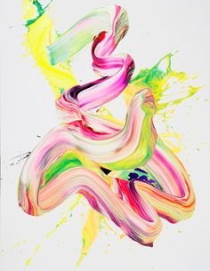 yago hortal's neon abstract paintings