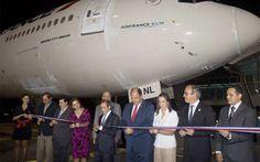 Air France inauguró nueva ruta París- San José-París