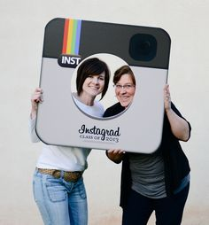 An Intsagrad photo Prop for your graduation party! @Michelle Khalife - Aww, let's do this and set up a photo area for your graduation celebration!!!