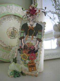 Flower packet doll