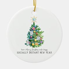 Merry Christmas | Funny 2020 Commemorative Ceramic Ornament - tap/click to get yours right now! #CeramicOrnament #christmas #2020, #social #distancing, #watercolor, Merry Christmas Funny, Funny Xmas, Christmas Humor, Christmas Holidays, New Year Designs, Tree Designs, Christmas Card Holders, Christmas Cards, Happy New Year Cards