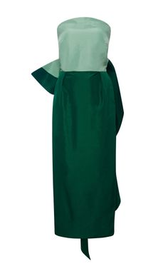 Shop Silk-Faille Bow-Back Dress by Rosie Assoulin Now Available on Moda Operandi