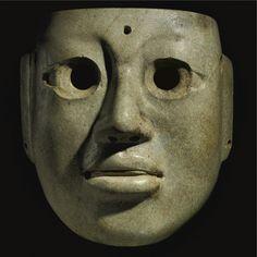 A Large Olmec Jade Mask, Middle Preclassic, ca. 900-300 B.C. - Sotheby's