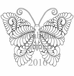 Tangled Butterflies Coloring Pack 6 NEW Pages PDF
