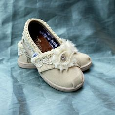 Toddler Custom TOMS  Lace by TheCrystalSlipper, $90.00