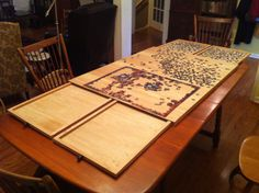 Puzzle Board Fully Opened