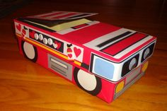 fire truck valentines box - Google Search