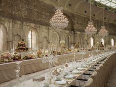 CHANEL Métiers d'Art Paris-Bombay 2011/12 Fashion show - But beautiful wedding decor inspiration.