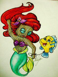 Button-eyed Ariel Doll