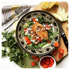 There's no fun in this Pretzel-Crusted Chicken and arugula salad without a spoonful of Chattanooga Butter  #organicfood
