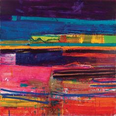 Contact us for available prints and paintings by Barbara Rae CBE RA whose acclaimed work is exhibited worldwide. Abstract Landscape, Landscape Paintings, Abstract Art, Contemporary Landscape, Art Paintings, Contemporary Artists, Barbara Rae, Glasgow School Of Art, Collage