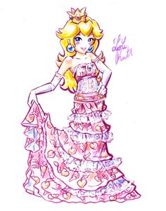 Mario: Party Dress Peach by Lemia
