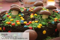 The delicious mushrooms forest cake!