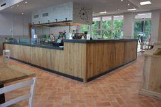 falegnameria bensi..banco bar/ristorante in rovere antico di recupero