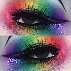 Rainbow for Orlando and the lgbt community    I used the amazing @morphebrushes 35C eyeshadow palette from @beautybaycom   All the glitter is @marthastewart in Garnet, Carnelian, Yellow Barite, Peridot, Lapis Lanzuli, Purple Sapphire & Kunzite.  #lgbt #orlando #rainbow #morphebrushes #eyeshadow #bbdaretoshare #beautybay #mua #undiscovered_muas #eyes #colour #palette