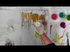 Acrylic Pour-String Swipe- Vivid Metalic Enamel by Leslie Ohnstad CT-(102-B) - YouTube