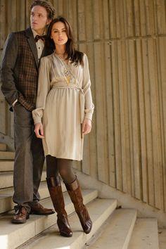 Silk Chain Jacquard Stony Brook Dress