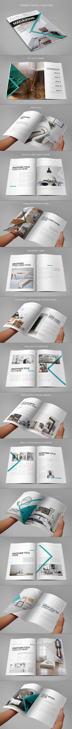 30 Pages Magazine Template InDesign INDD | like | Pinterest ...