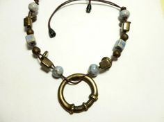pewter and ceramic beads