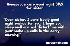good night sis