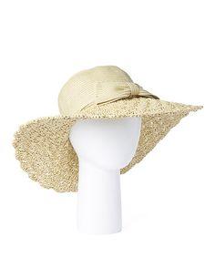 adceb4e8f7b Loving this Tan  amp  Cream Scallop Sunhat on  zulily!  zulilyfinds Summer  Hats