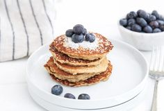 These Coconut Flour Pancakes are gluten-free, sweetened with coconut sugar and applesauce, and have a light, fluffy texture. Try them today!