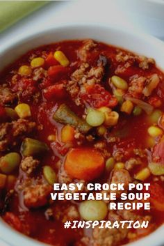 Find easy-to-make comfort food recipes like Healty recipes, dinner recipes and more recipes to make your fantastic food today. Crock Pot Vegetables, Vegetable Soup Recipes, Easy Soup Recipes, Egg Recipes, Dinner Recipes, Canned Carrots, Tasty Dishes, Healthy Drinks, Food To Make