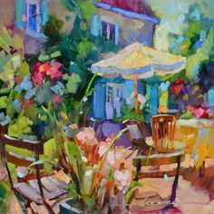 Colorful Paintings of France and Italy by Artist Dreama Tolle Perry
