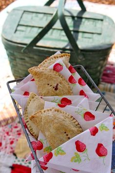 Let's have a picnic..strawberry picnic pies!