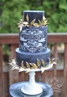 To see more gorgeous wedding cakes from Artisan Cake Company: http://www.modwedding.com/2014/11/14/27-wedding-cake-inspiration-serious-wow-factor/ #wedding #weddings #wedding_cake