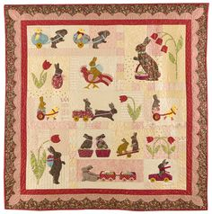 """""""Rabbits Prefer Chocolate"""" - my first hand-appliqued quilt"""