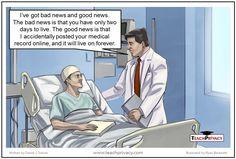 HIPAA Cartoon Social Media