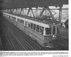 I've ridden the A train across the Bay Bridge many times. San Pablo California, Richmond California, California Usa, Oakland San Francisco, East Bay Area, San Leandro, Lower Deck, Public Transport, Golden Gate Bridge