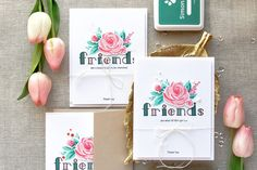 Simon Says Stamp   Floral Thank You Cards for Friends. Video