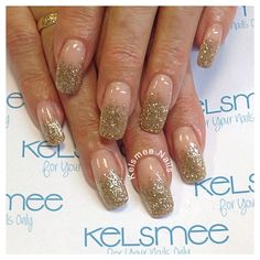 Glitter fade shimmeringsand young nails acrylic