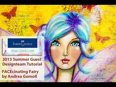 【FABER CASTELL Guest Designteam】 FACEcinating Girl with Gelatos & Stampers Big Brush Pens - how to video
