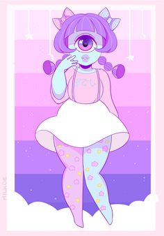 — milkoe: A cute little pastel cyclops girl I...