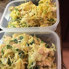 "Creamy Chicken Spinach & Artichoke ""pasta"" made with spaghetti squash made for meal prep this week. I DO NOT prep boring. I am always switching it up and mixing up flavors. One large 350g serving is 256 calories 5 fat 21 carb 31.7 protein. I'll be putting the recipe up on the blog later tonight www.thirdshiftfit.wordpress.com #mealprep"