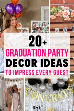 Picking out the perfect graduation party decor to fit your personility can be so hard. These ideas will inspire your perfect graduation party! Grad Party Decorations, Graduation Party Centerpieces, Graduation Party Themes, Graduation Ideas, Outdoor Graduation Parties, Diy Graduation Gifts, Grad Parties, Diy 2019, Decor Ideas
