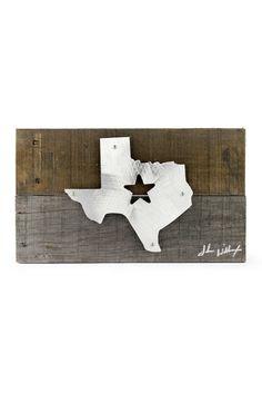 Texas Star Wood & Metal Art Wall Decor