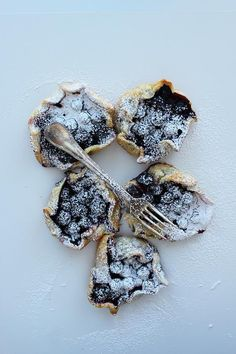blueberry galettes with lemon