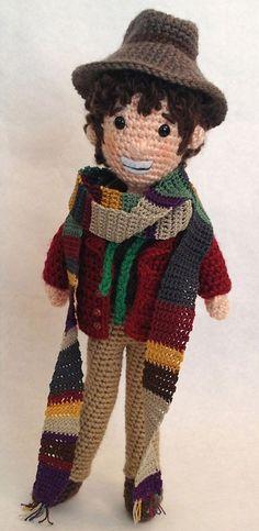Having a scarf: Artist most enjoyed creating Tom Baker doll