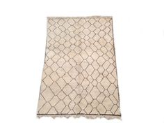 Beni ourain 12'2x8'5Moroccan Rug. Withe and by theboucherouiteshop