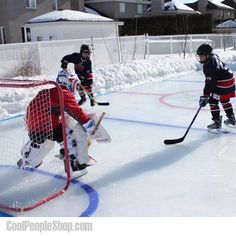 Backyard Hockey Rink, Backyard Ice Rink, Backyard Play, Backyard  Landscaping, Backyard Ideas, Outdoor Hockey Rink, Winter Sports, Winter  Fun, Outdoor ...