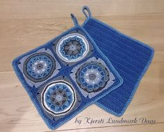 Circles of the Sun potholders by Kjersti Lundmark Daae