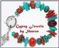 Warm, colorful bracelet brightens the day!